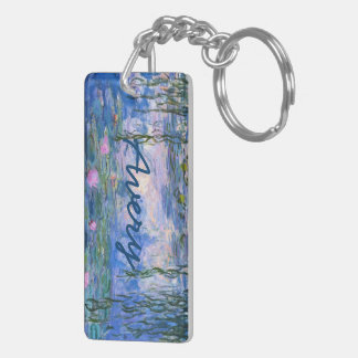 Water Lilies Double-Sided Rectangular Acrylic Key Ring