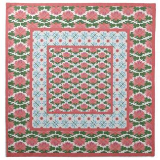 Water Lilies, Dragonflies: Set of Cloth Napkins