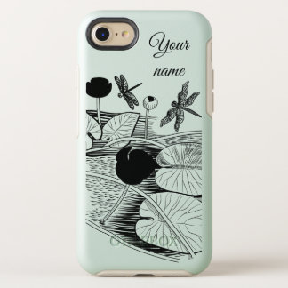 Water-lilies engraving OtterBox symmetry iPhone 8/7 case