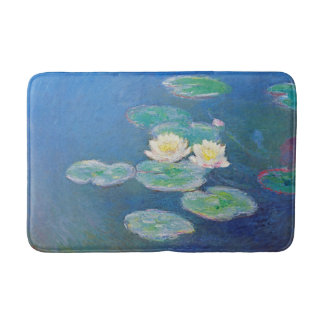 Water Lilies, Evening Effect by Claude Monet Bath Mat