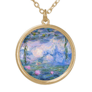 Water Lilies Gold Plated Necklace