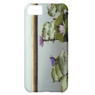 Water lilies in pond by ocean iPhone 5C case