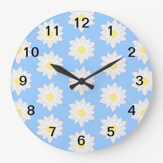 Water Lilies. Large Clock
