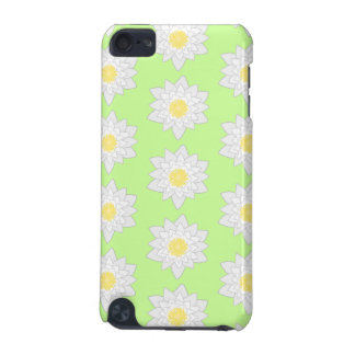 Water Lilies, Light Green Background. iPod Touch (5th Generation) Cover