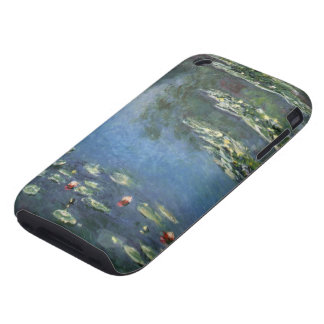 Water Lilies, Monet, Vintage Impressionism Flowers iPhone 3 Tough Covers