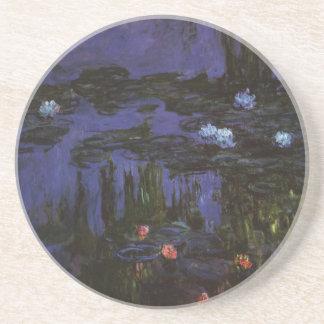 Water Lilies, Monet, Vintage Impressionism Flowers Coasters