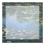 Water Lilies, Monet, Vintage Impressionism Flowers Invites
