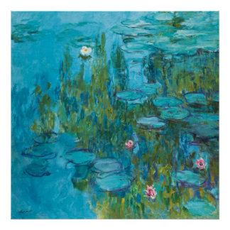 Water Lilies Nympheas by Monet GalleryHD Poster