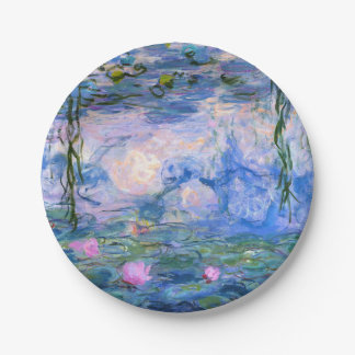 Water Lilies Paper Plate