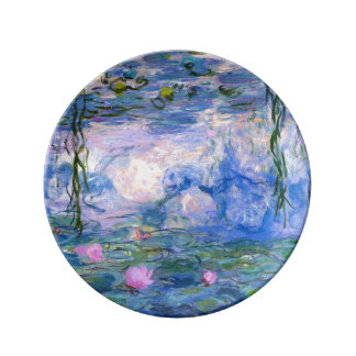 Water Lilies Porcelain Plate