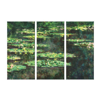 Water Lilies with Reflections, Claude Monet Stretched Canvas Print