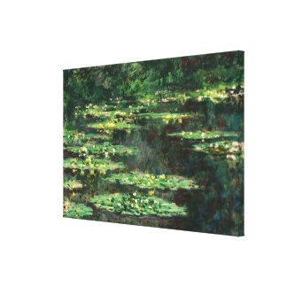 Water Lilies with Reflections, Claude Monet Gallery Wrap Canvas