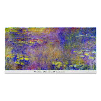 Water Lilies - (Yellow nirvana) by Claude Monet Poster