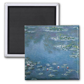 Water Lillies by Claude Monet Square Magnet