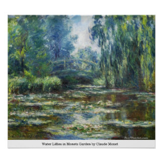 Water Lillies in Monets Garden by Claude Monet Poster