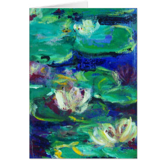 """Water Lillies"" like Claude Card"