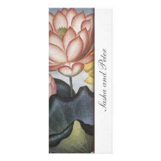 Water Lilly Floral Wedding Invitation