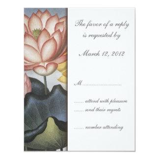 Water Lilly Wedding Invitation RSVP