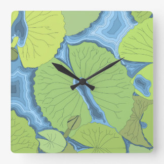 Water Lily 1 Square Wall Clock