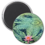 Water Lily 6 Cm Round Magnet