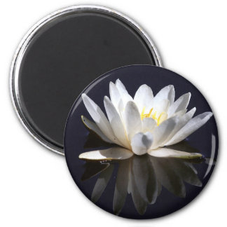 water-lily 6 cm round magnet