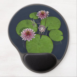 Water Lily and Dragonfly Gel Mouse Mat