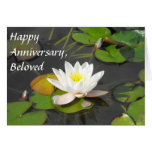 Water Lily and Leaves with coin Greeting Card