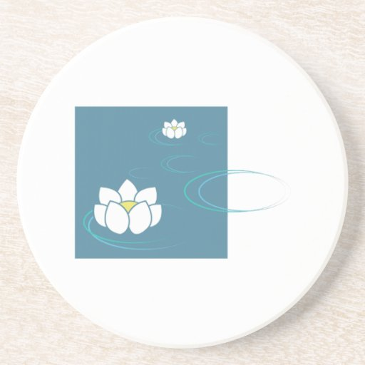 Water Lily Beverage Coasters