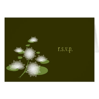 Water Lily Elegant Simple Contemporary RSVP Card