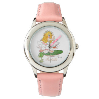Water Lily Fairy Cute Flower Child Floral Girl Watch