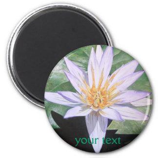 Water Lily Fine Art 6 Cm Round Magnet