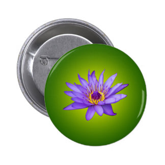 Water Lily Flower Pond Aquatic Purple Water Bloom 6 Cm Round Badge