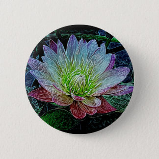 """Water Lily"" Flower Purple Pretty Lily Button"