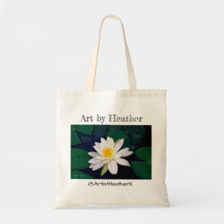 """ Water Lily Flower"" tote"
