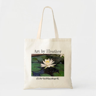 "Water Lily Flower"" tote Personalized tote"