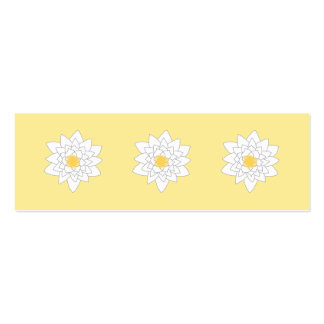 Water Lily Flower. White and Yellow. Style 2. Business Card Templates