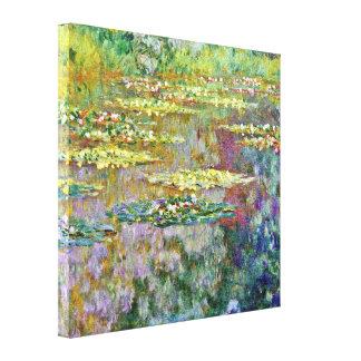 Water Lily Flowers Claude Monet Fine Art Gallery Wrap Canvas