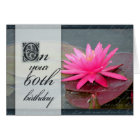 Water lily for 60th birthday card