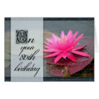 Water lily for 80th birthday card