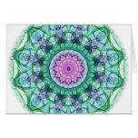 Water Lily kaleidoscope Greeting Card