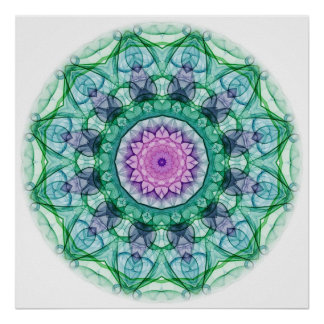 Water Lily kaleidoscope Poster