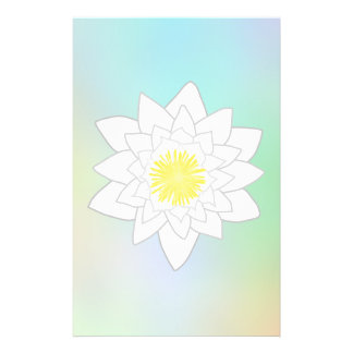 Water Lily on Pretty Pastel Background. 14 Cm X 21.5 Cm Flyer