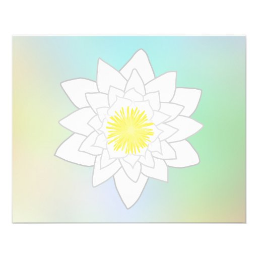 Water Lily on Pretty Pastel Background. Full Color Flyer