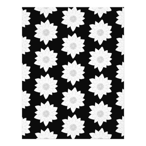 Water Lily Pattern. Black and White. Full Color Flyer