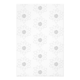 Water Lily Pattern in Light Gray and White. Personalized Flyer