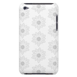 Water Lily Pattern in Light Gray and White. iPod Touch Covers