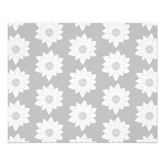 Water Lily Pattern in Light Grey. Flyers