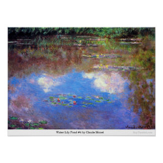 Water Lily Pond #4 by Claude Monet Poster