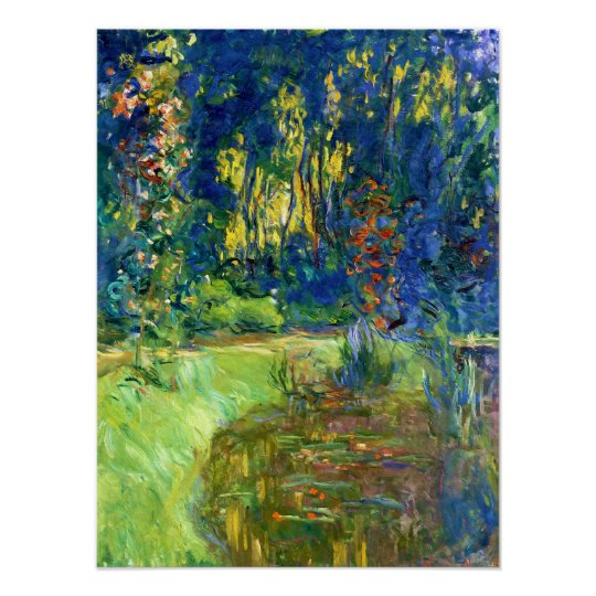 Water Lily Pond at Giverney Poster