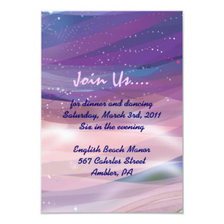 Water Lily Pond Bat Mitzvah Reception Party card